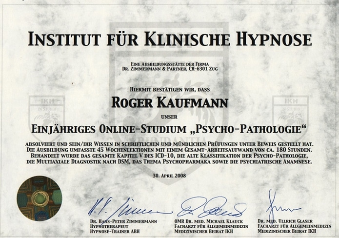 Studium Psychopathologie