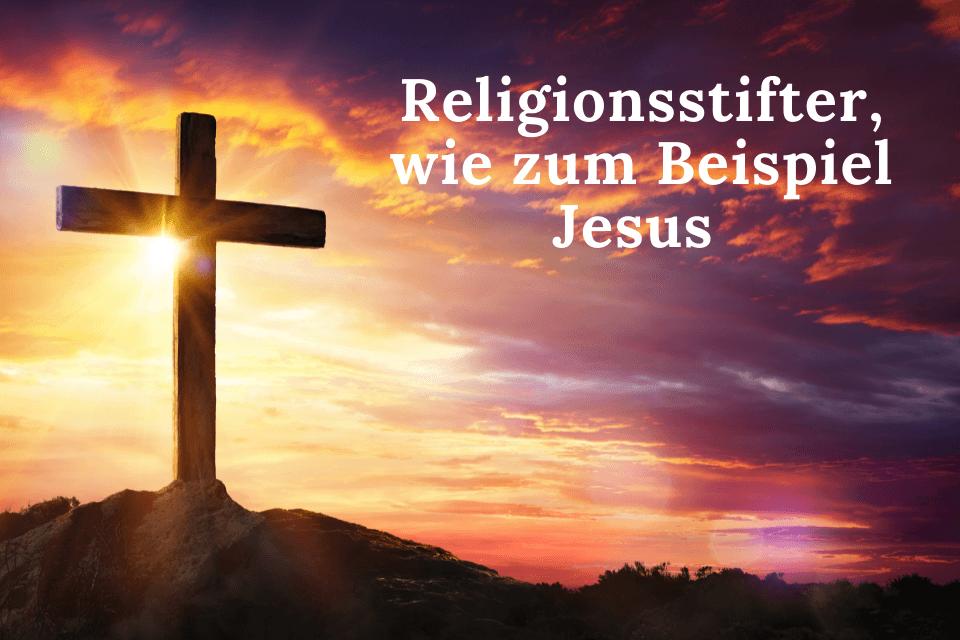 Bei Sonnenuntergang ein Kreuz mit einem Hügel und der Aufschrift - Religiöse Bedenken gegen die Hypnose
