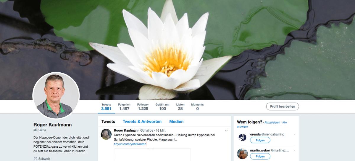 Roger Kaufmann auf Twitter