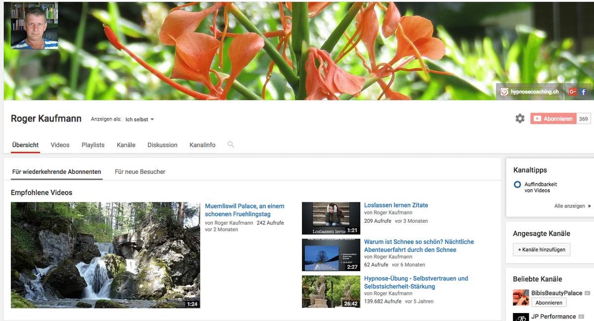 Roger Kaufmann auf YouTube