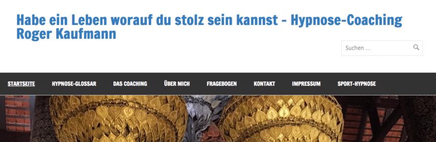 "Roger Kaufmann`s Hypnose ""Suchstory"" bei Google"